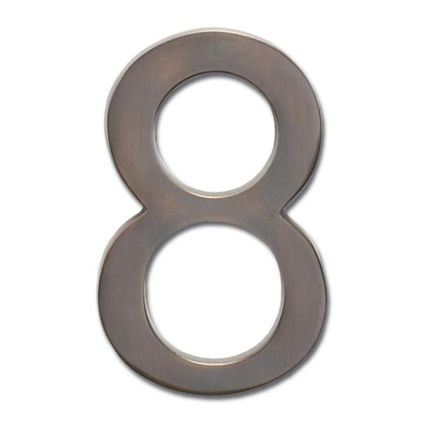 5 in. Dark Aged Copper Floating House Number 8