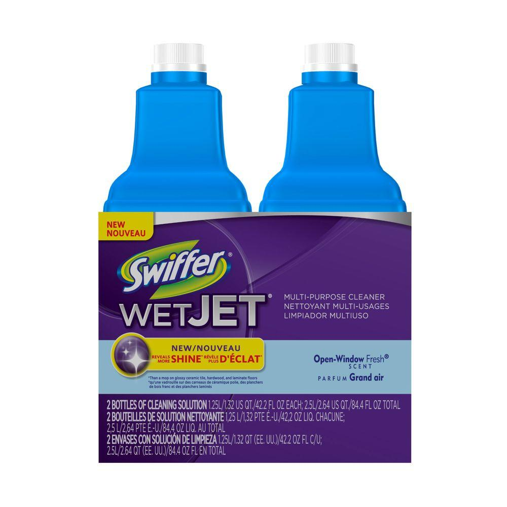 Swiffer Wetjet 42 Oz Multi Purpose Floor Cleaner Refill With Open Window Fresh Scent