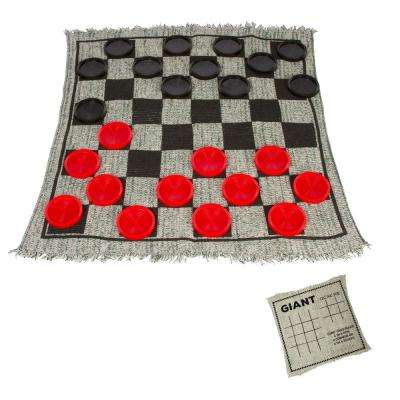 25 in. Square Giant Checkers Game Rug
