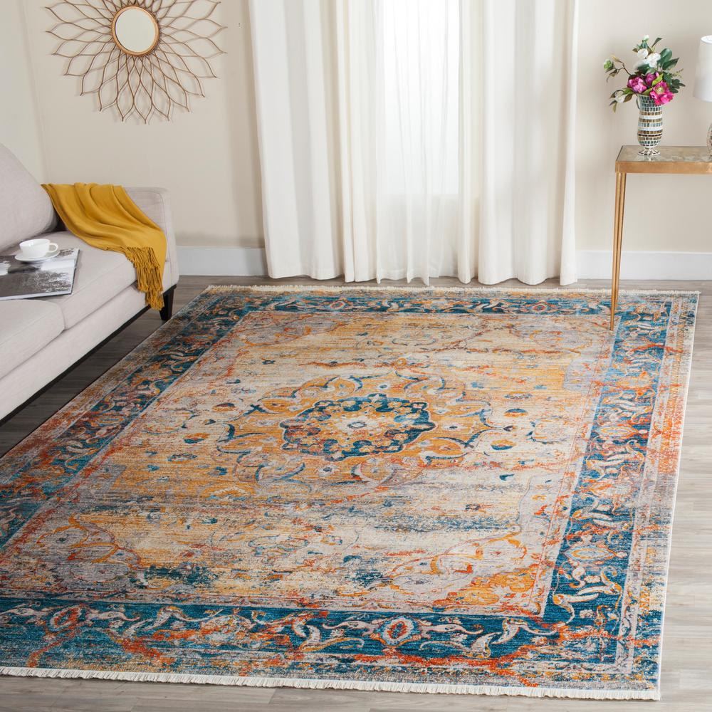 Safavieh Vintage Persian Blue Multi 5 Ft X 7 Ft 6 In