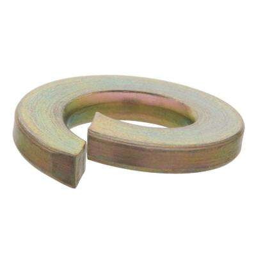 1/4 in. Yellow Zinc Grade 8 Split Lock Washer (5-Pack)
