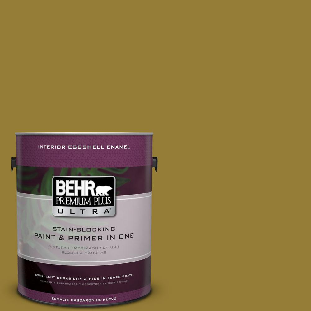 BEHR Premium Plus Ultra 1-gal. #M320-7 Thai Curry Eggshell Enamel Interior Paint