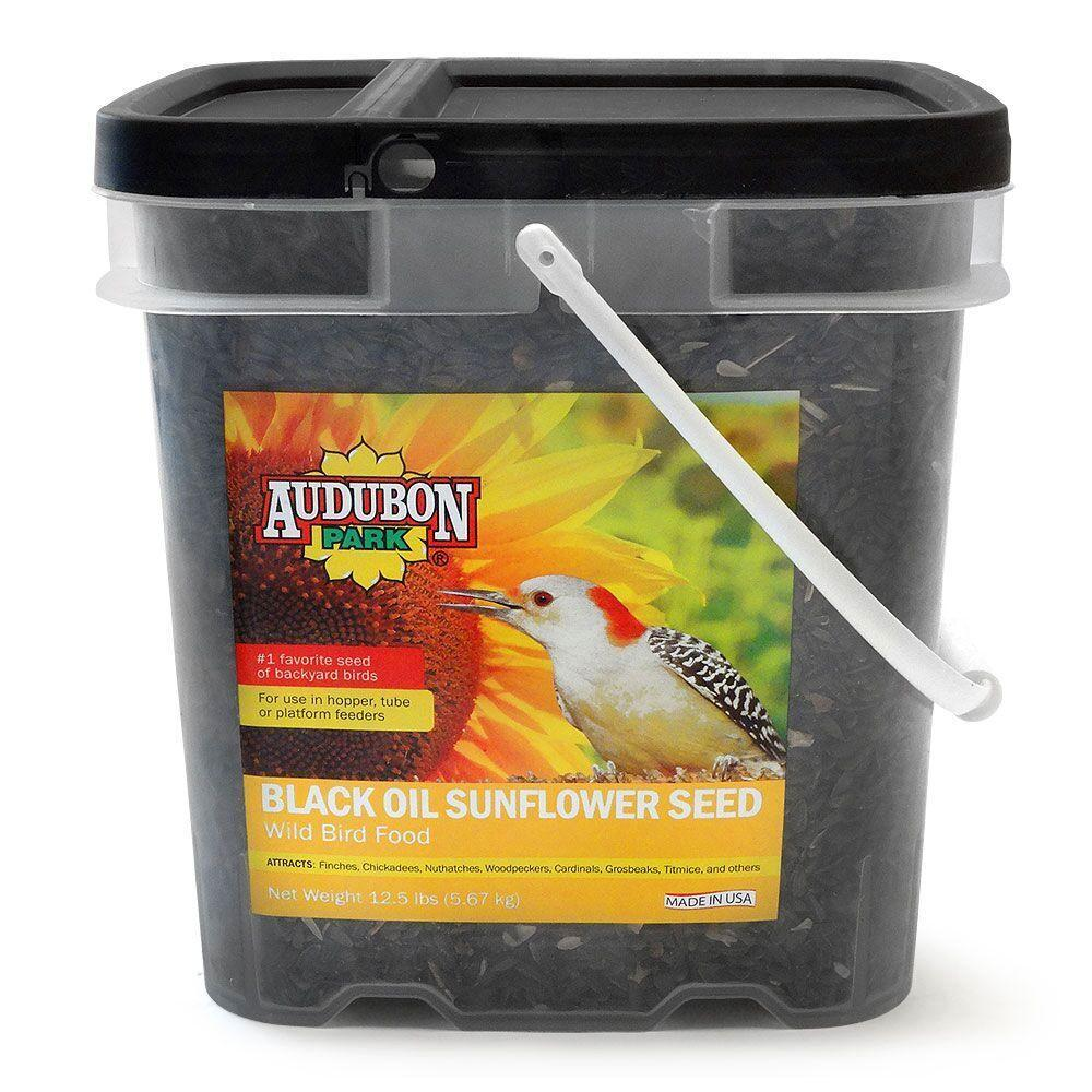 audubon park 12 5 lb sunflower seed bucket 12178 the home depot