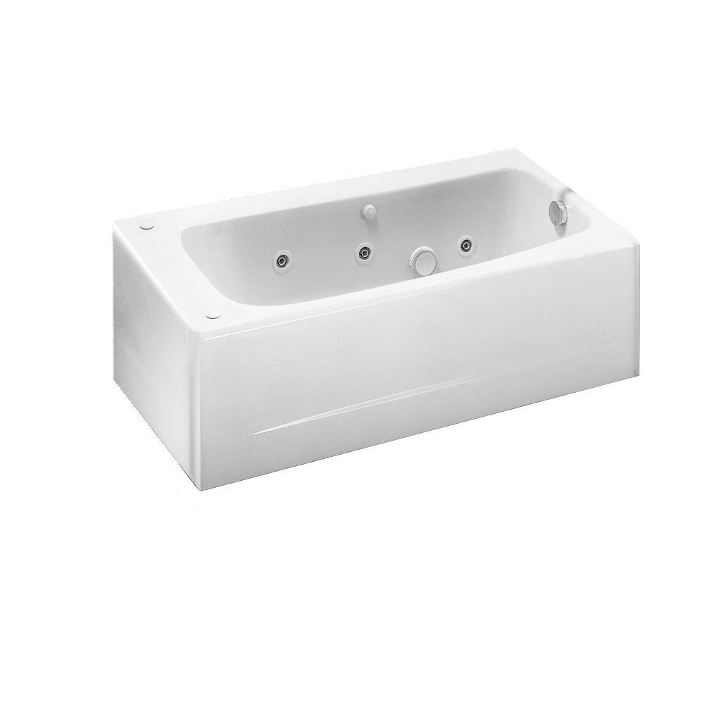 American Standard Cambridge 60 In. X 32 In. Americast EverClean Whirlpool  Tub With Right