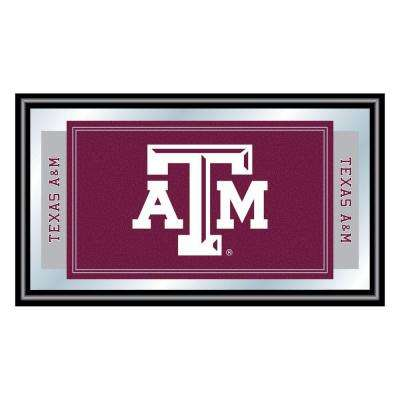 Texas A&M University 15 in. x 26 in. Black Wood Framed Mirror