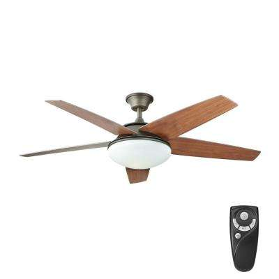 Piccadilly 52 in. LED Indoor Espresso Bronze Ceiling Fan with Light Kit and Remote Control