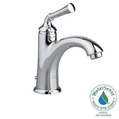 Portsmouth Monoblock Single Hole Single Handle Mid-Arc Bathroom Faucet in Polished Chrome with Speed Connect Drain