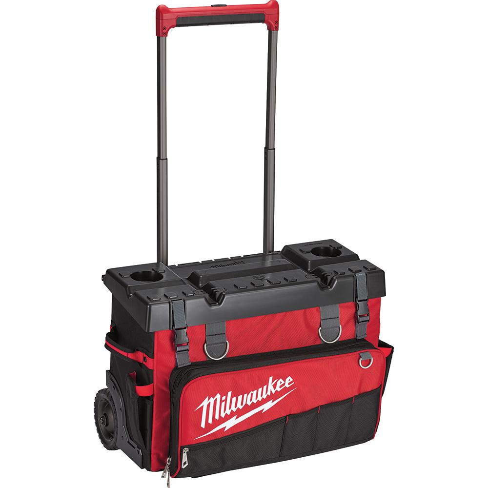 Milwaukee 24 in. Hardtop Rolling Bag, Red