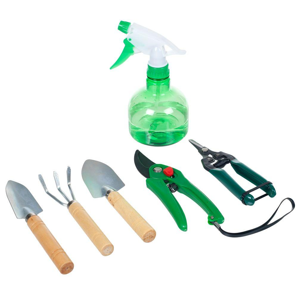 Pure garden in 7 in 1 plant care garden tool set for Gardening tools 7 letters