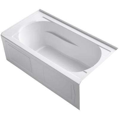Devonshire 5 ft. Right-Hand Drain Integral April Tile Flange Rectangular Alcove Bathtub in White
