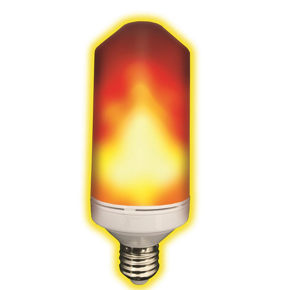 3-Watt Equivalent T60 280 Lumens Flame Design Soft White LED Light Bulb