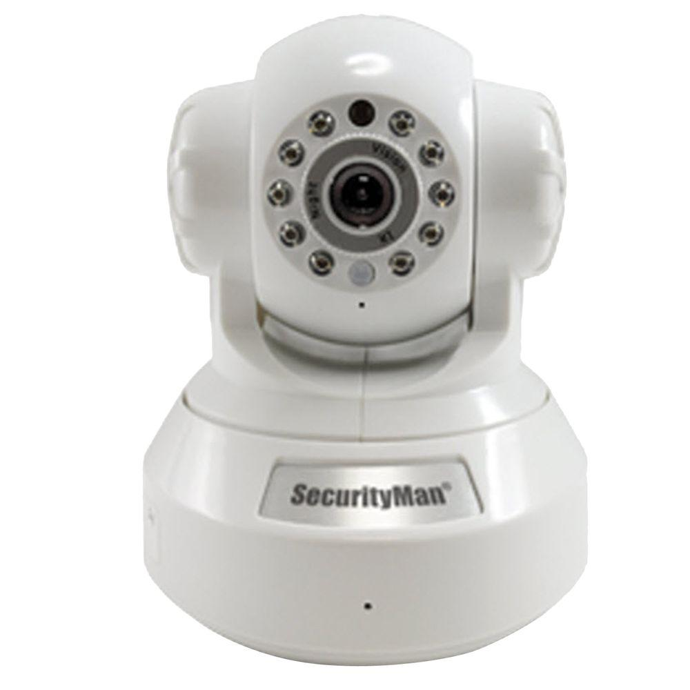 SecurityMan DIY Wireless/Wired IP Indoor Camera with H.264 Compression SD Recorder