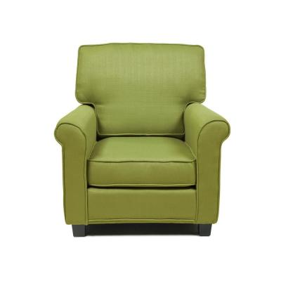 Delphine Green Contemporary Padded Linen Arm Chair