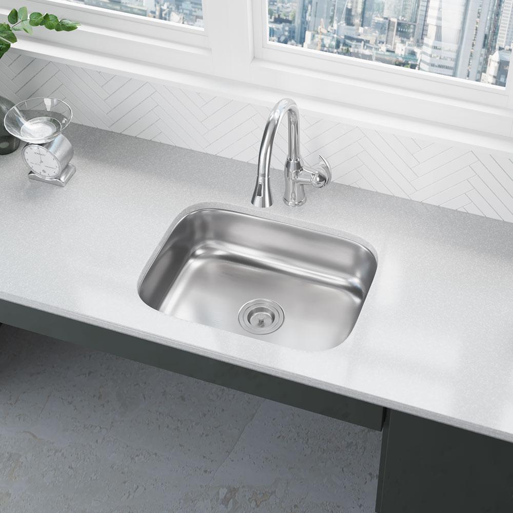 Rene Undermount Stainless Steel 23 in. Single Basin Kitchen Sink