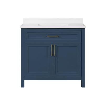 Mayfield 36 in. W x 22 in. D Vanity in Grayish Blue with Cultured Marble Vanity Top in White with White Basin