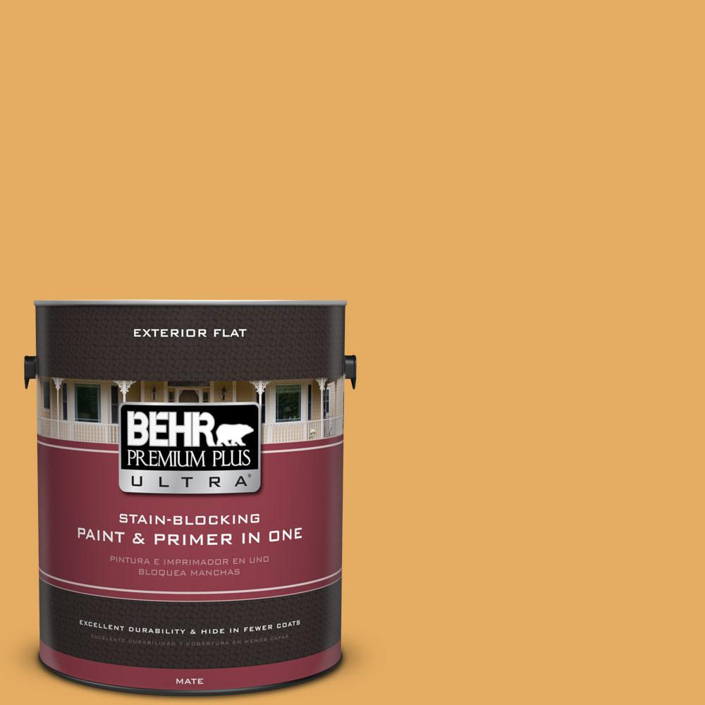 BEHR Premium Plus Ultra 1-gal. #310D-5 Sahara Shade Flat Exterior Paint