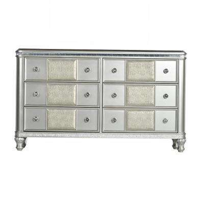 Midtown 6-Drawer Modern Silver Dresser
