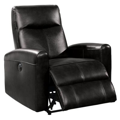 Blane 41 in. H Black Leather Recliner with Power Motion