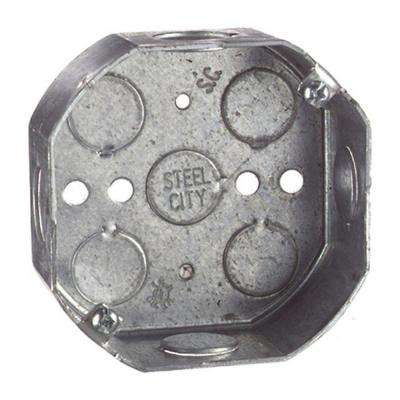 4 in. 15.8 cu. In. Octagon Ceiling Box (Case of 25)