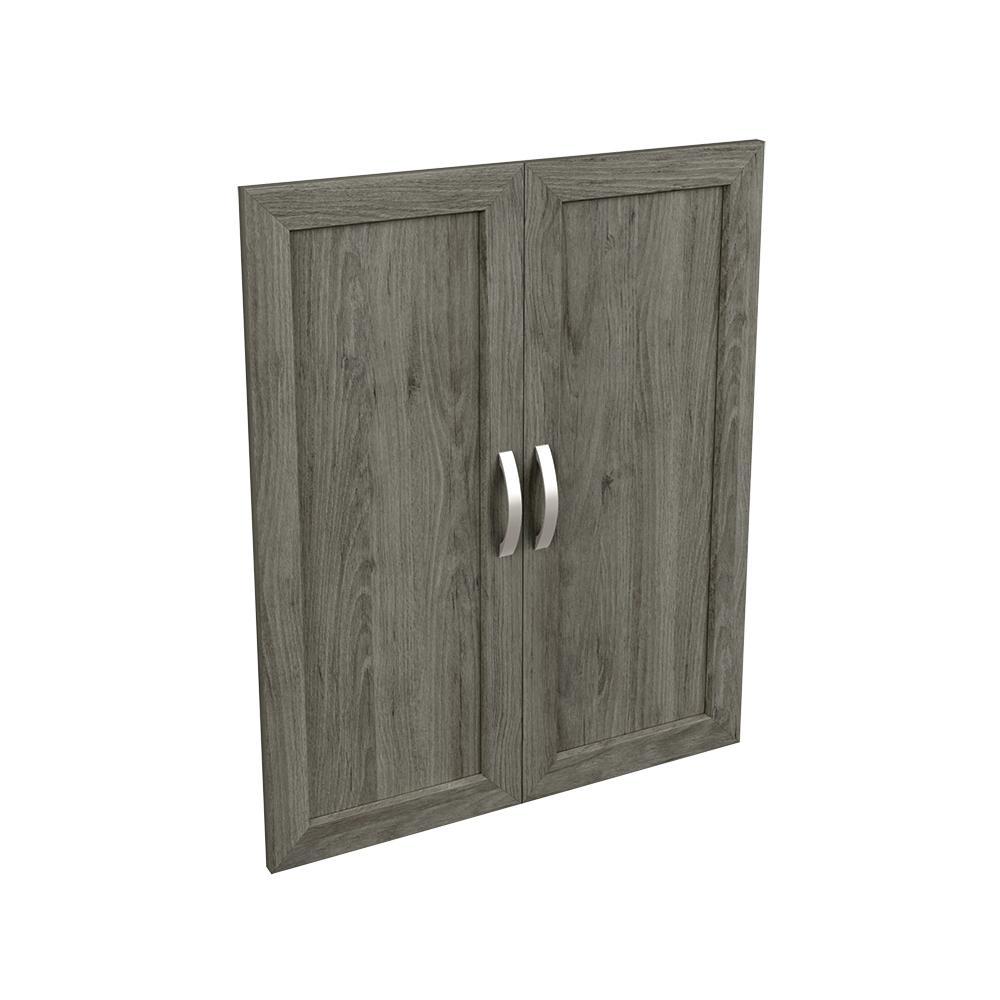 Style+ 0.63 in. D x 24.65 in. W x 30.12 in. H Coastal Teak Melamine Shaker Door Kit Closet System