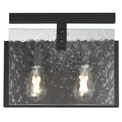 Zane 2-Light Matte Black Wall Mount Bath Light