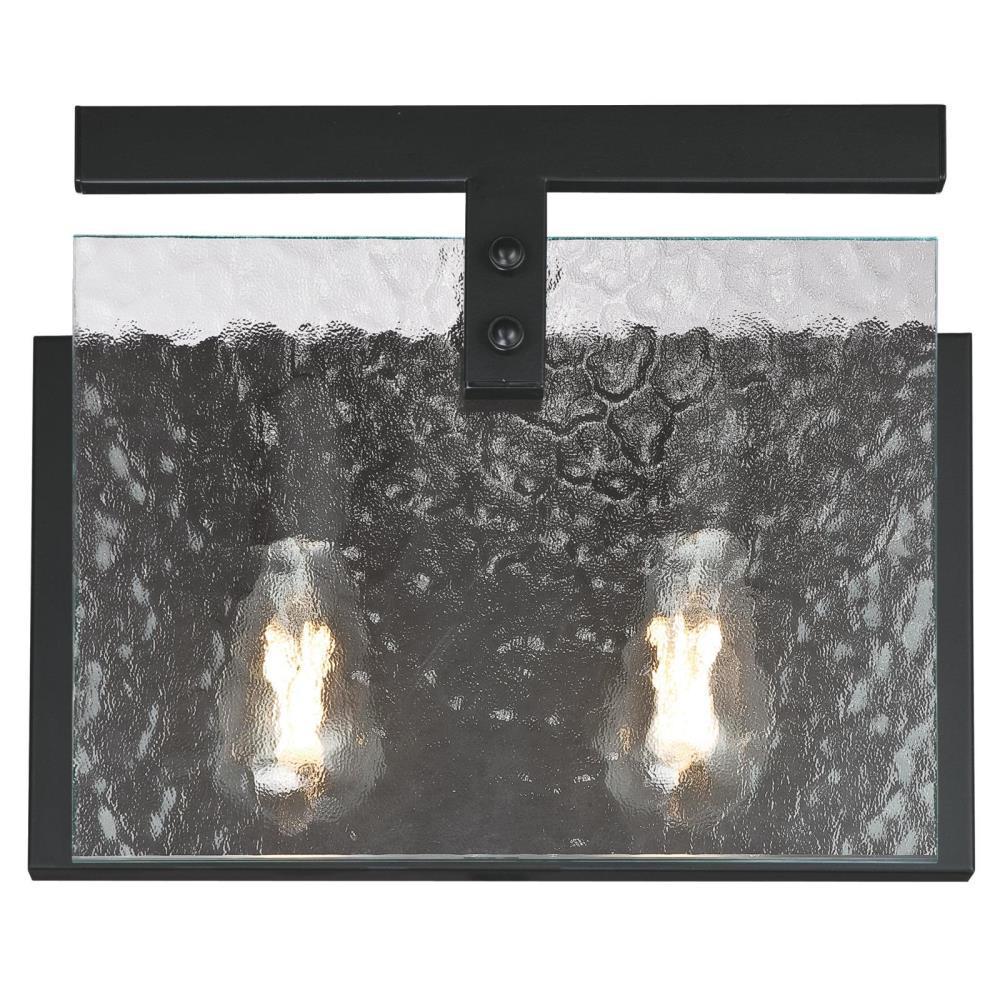 Zane 2-Light Matte Black Wall Mount Bath Light