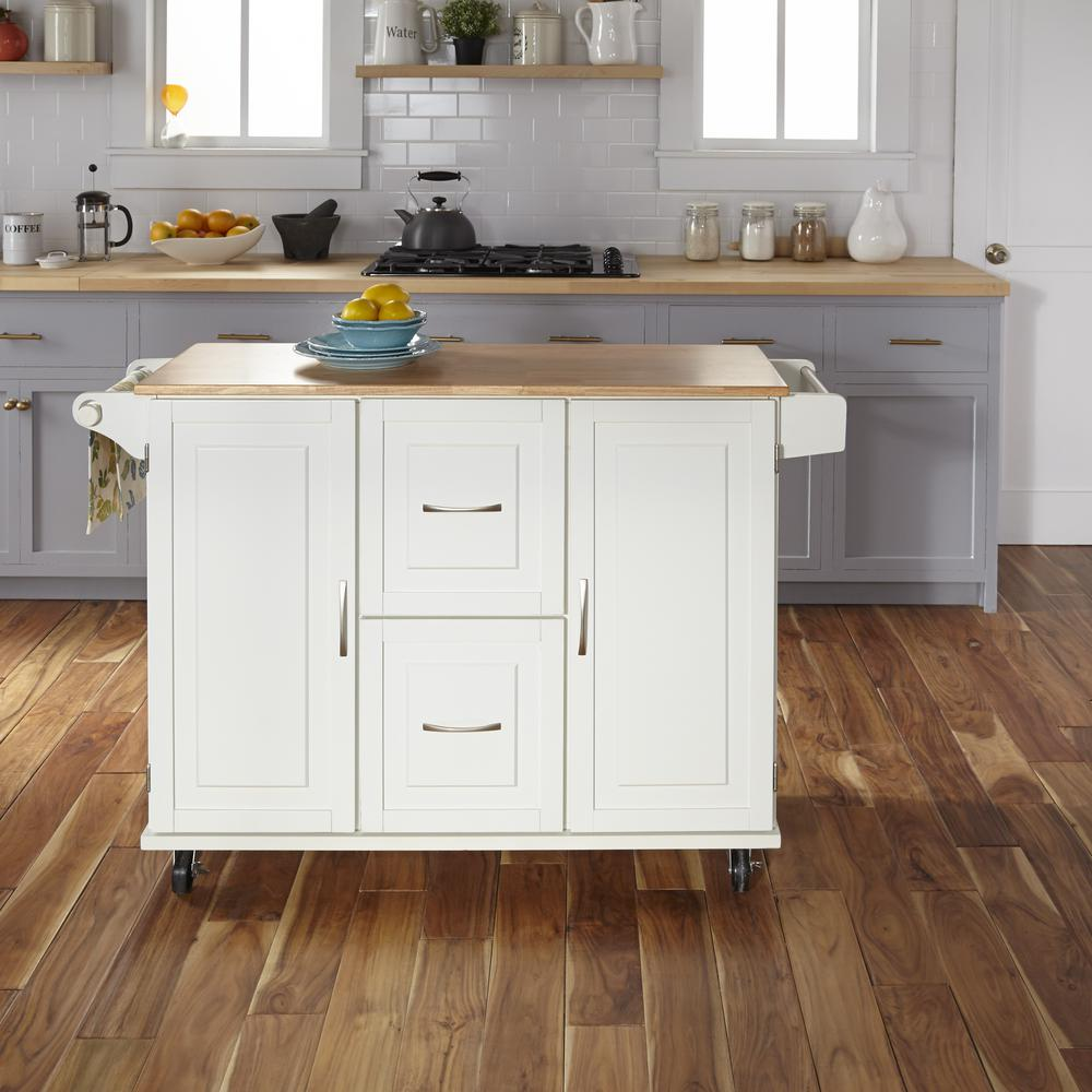 Home Styles 4528 95 Kitchen Island Cart: Home Styles Patriot White Kitchen Cart-4516-95