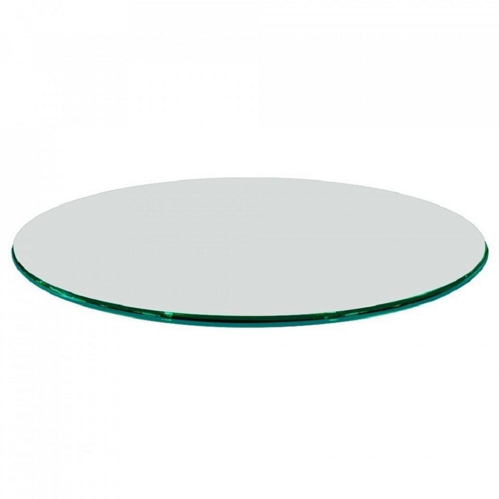 Charming Fab Glass And Mirror Glass Table Top 24 In. Round 1/2 In.