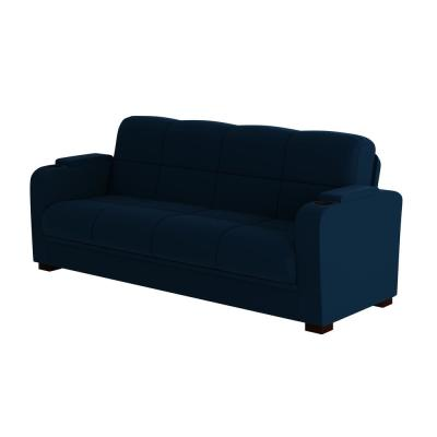 Abygail Storage Arm Convert-a-Couch in Navy Blue Velvet