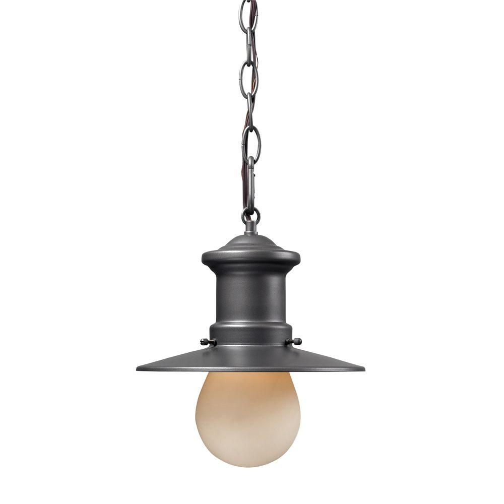 Titan Lighting 1-Light Ceiling Outdoor Graphite Pendant-DISCONTINUED