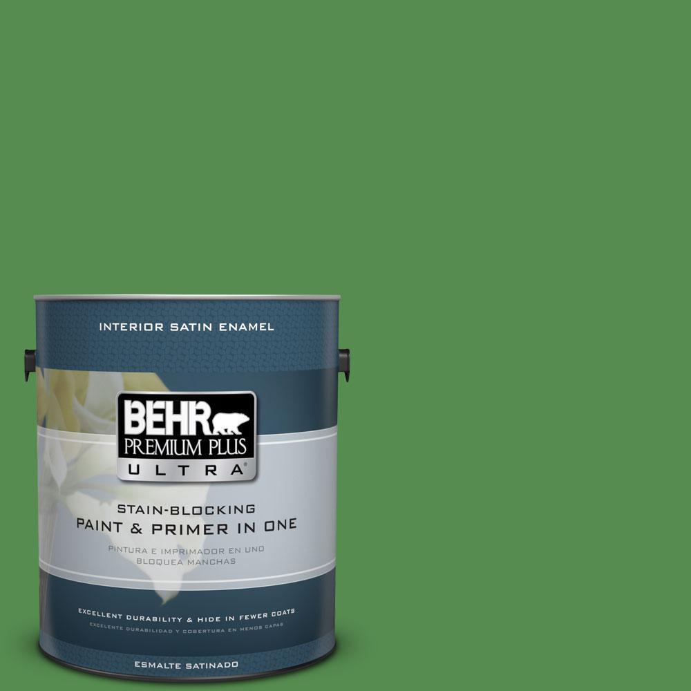 BEHR Premium Plus Ultra 1-gal. #M390-6 Belfast Satin Enamel Interior Paint