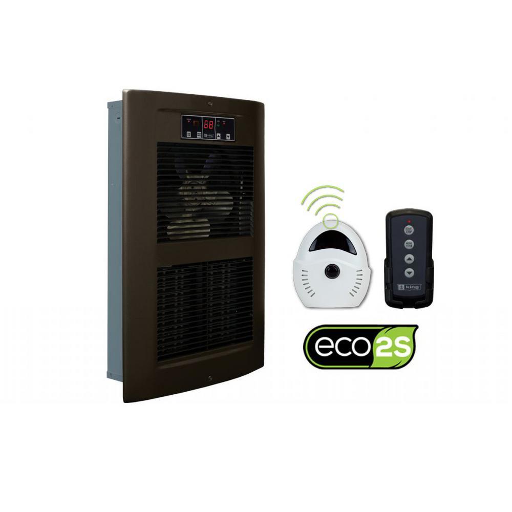 LPW ECO2S 240-Volt 2500-4500-Watt 8530-15354 BTU Electric Wall Heater in Oiled Bronze