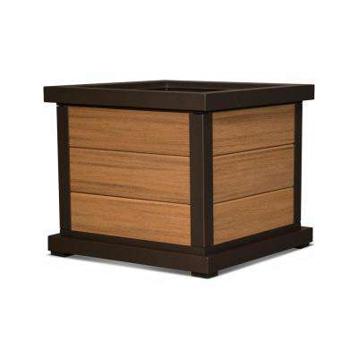 Cube 24 in. 3-Board Plastic Planter