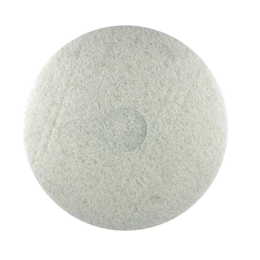 DIABLO 17 in. Non-Woven White Buffer Pad