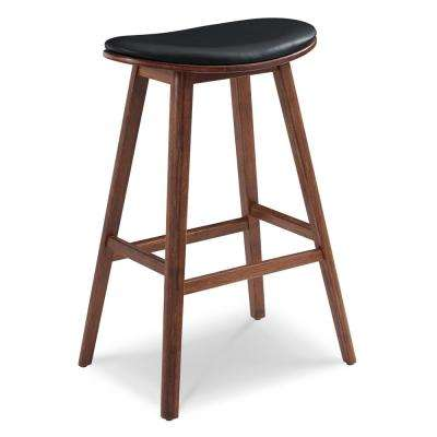 Corona 30 in. Exotic 100% Solid Bamboo Bar Stool with Top Grain Leather Upholstered Seat (Set of 2)