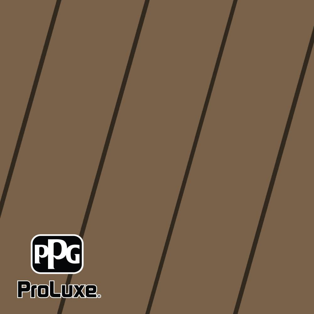 PPG ProLuxe 5 gal. Premium #HDGSIK710-201 Chestnut Brown Solid Stain Wood Finish