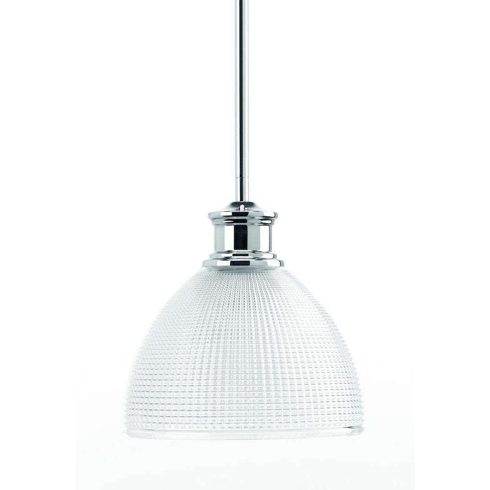 Progress Lighting Lucky Collection 8 In 1 Light Polished Chrome Mini Pendant With Clear Double Prismatic Gl