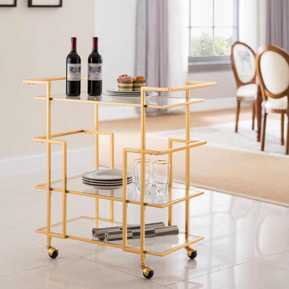 Della Art Deco Bar Cart