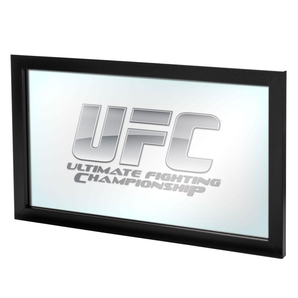 UFC I 26 in. x 15 in. Black Framed Logo Mirror