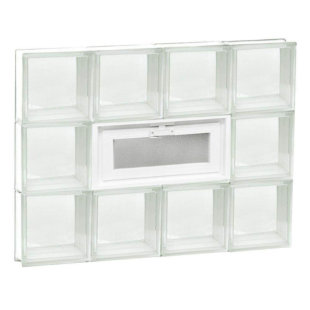 31 in. x 23.25 in. x 3.125 in. Vented Clear Glass