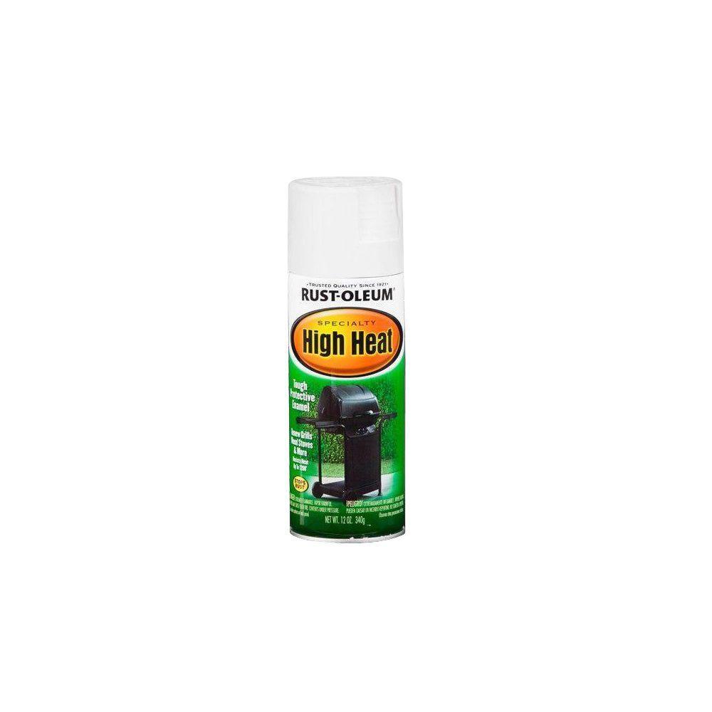 12 oz. High Heat Satin White Spray Paint (6-Pack)