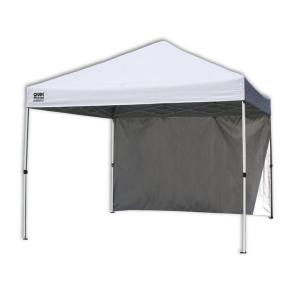 White Canopy with Wall Panel  sc 1 st  Home Depot & Quik Shade Summit 10 ft. x 17 ft. Instant Canopy in Taupe-157416 ...