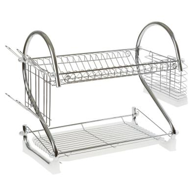 22 in. 2-Tier Drying Rack in Chrome