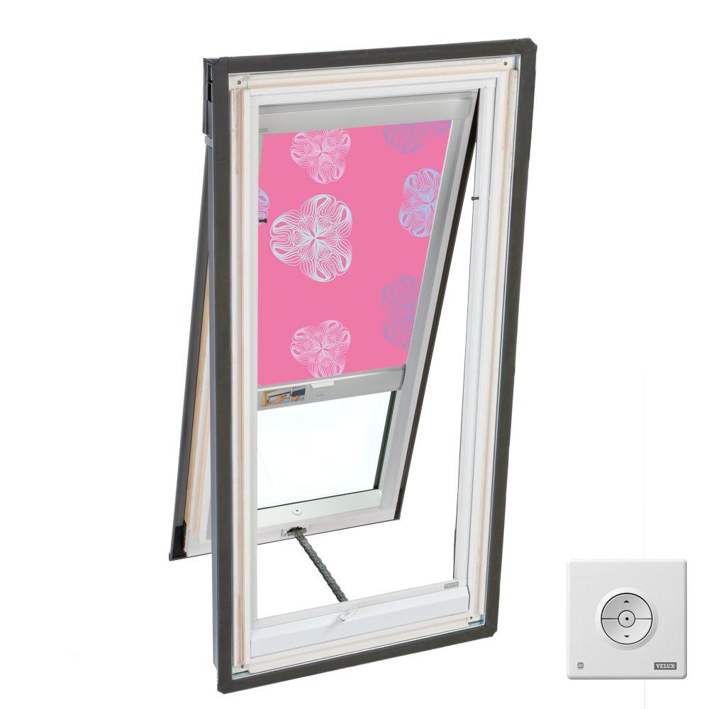 VELUX 21 in. x 45-1/2 in. Fresh Air Skylight Deck-Mount Vented with Tempered LowE3 Glass and Solar Blackout Blind-DISCONTINUED