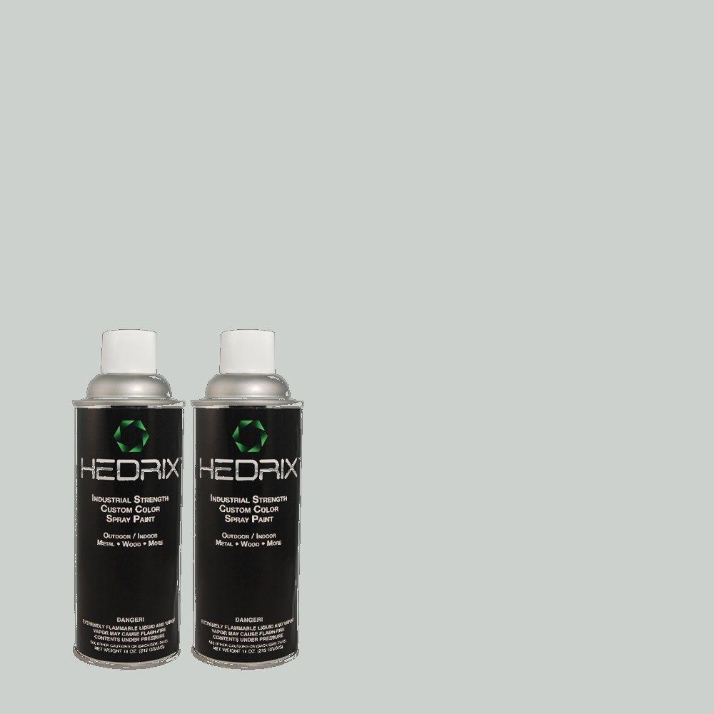 Hedrix 11 oz. Match of MQ3-58 Alice White Low Lustre Custom Spray Paint (2-Pack)
