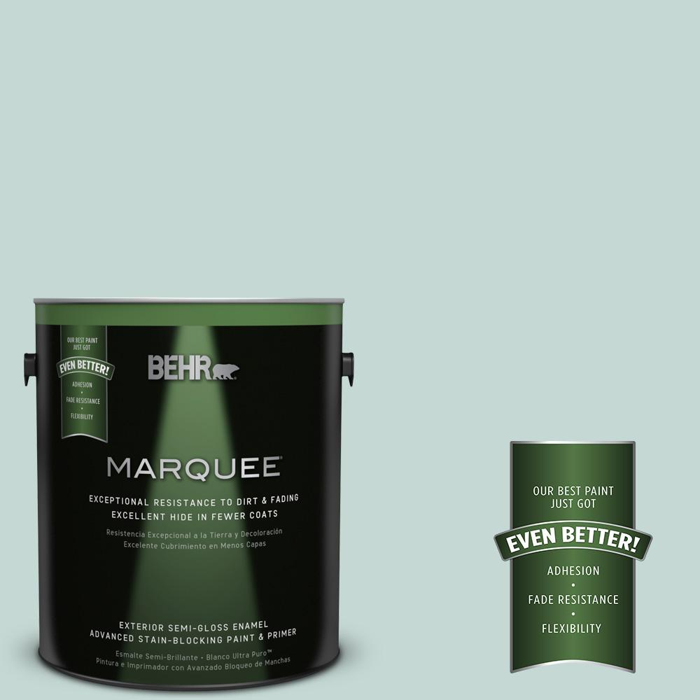 BEHR MARQUEE 1-gal. #480E-2 Tide Pools Semi-Gloss Enamel Exterior Paint