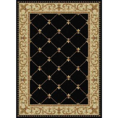 Sensation Black 8 ft. 9 in. x 12 ft. 3 in. Traditional Area Rug