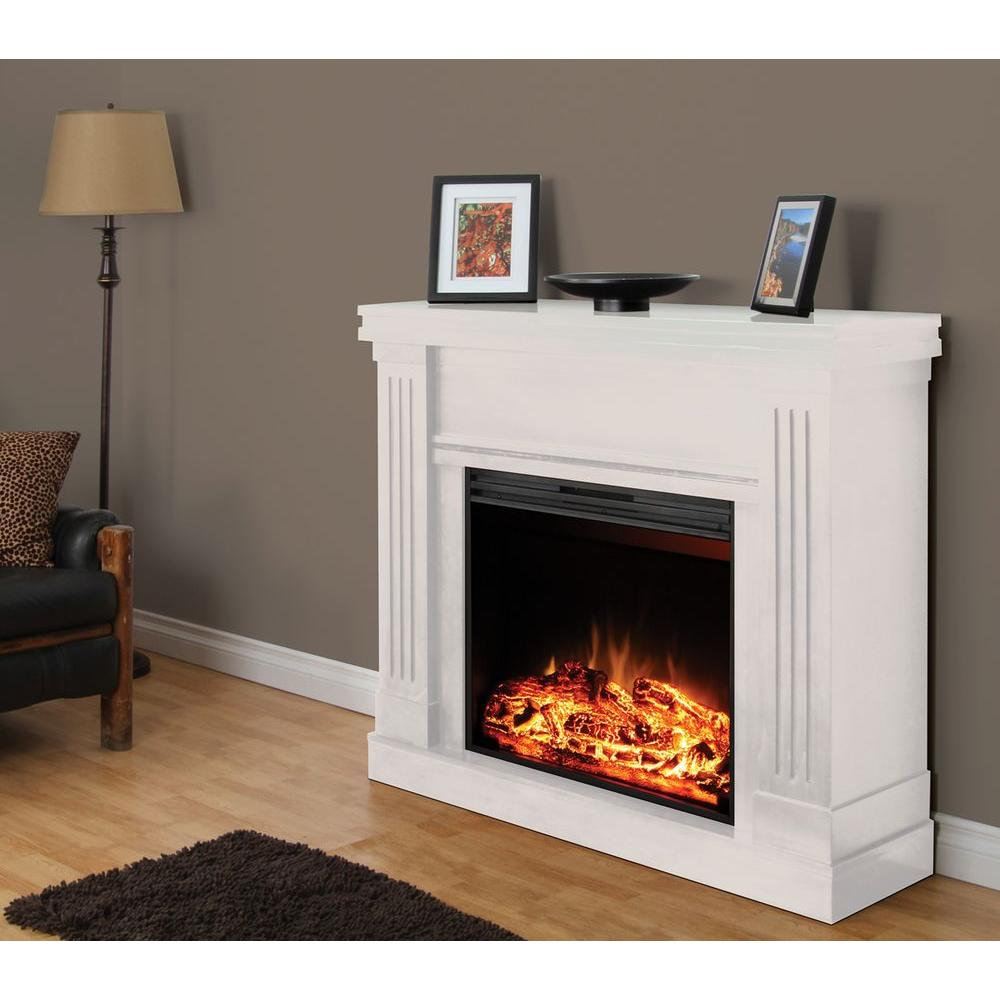 Muskoka Palmer 48 in. Electric Fireplace in White-DISCONTINUED