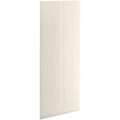 Choreograph 0.3125 in. x 32 in. x 96 in. 1-Piece Shower Wall Panel in Biscuit with Cord Tecture for 96 in. Showers