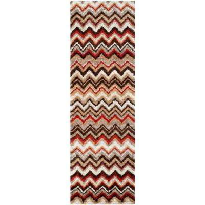 Tahoe Beige/Brown 3 ft. x 8 ft. Runner Rug